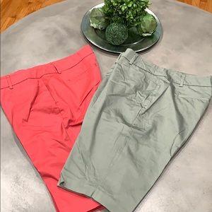 2 slightly used pair of New York&Co Bermuda shorts